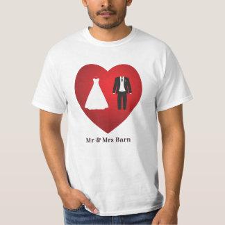 Mr & Mrs Barn Wedding Marriage T-Shirt