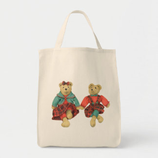 Mr. & Mrs. Bear Grocery Tote - Natural Bags