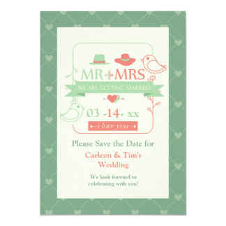 Mr. & Mrs. Birds Save the Date Announcement