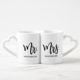 Mr. & Mrs. Black Script Couples Mug (With Names)