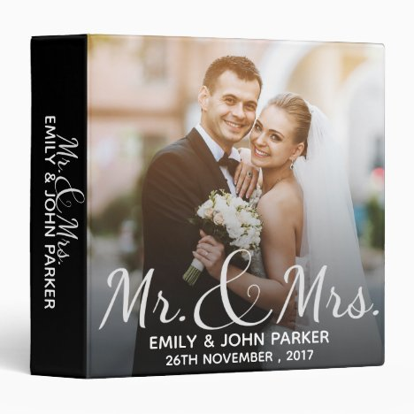 Mr. & Mrs. |  Black & White | Photo Binder