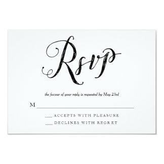 Mr & Mrs Black & White Wedding RSVP Response Cards