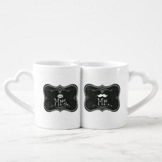 Mr Mrs Blackboard Matching Mugs Lovers Mug Sets