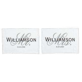 Mr. & Mrs. Bride & Groom Newlywed Wedding custom Pillow Case