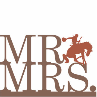 Mr & Mrs Bronco Cake Topper Acrylic Cut Out