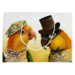Mr & Mrs Caique Realistic Painting Gift Bag