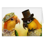 Mr & Mrs Caique Realistic Painting Greeting Card