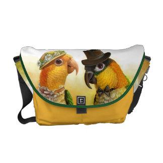 Mr & Mrs Caique Realistic Painting Messenger Bags