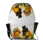 Mr & Mrs Caique Realistic Painting Messenger Bag