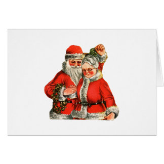 Mr Mrs Claus Greeting Card