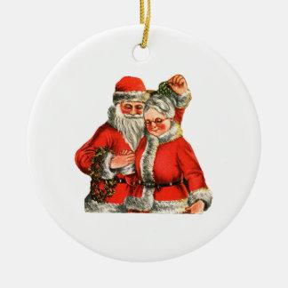 Mr Mrs Claus Christmas Tree Ornament