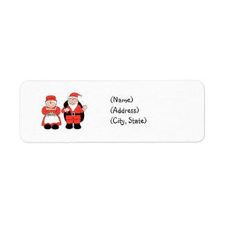 Mr. & Mrs. Claus Personalized Return Address Label