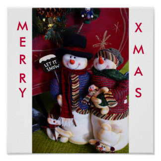 Mr. & Mrs. Claus Poster