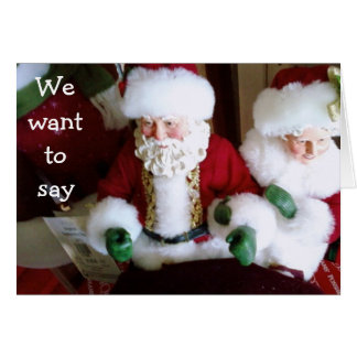 MR/MRS CLAUS SAY HAVE A VERY SPECIAL CHRISTMAS DAY CARD