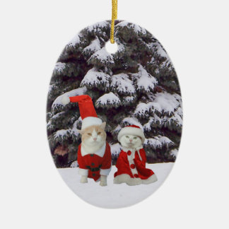 Mr. & Mrs. Claws Ceramic Ornament
