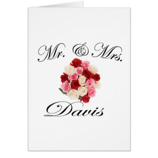 Mr & Mrs. Davis Card