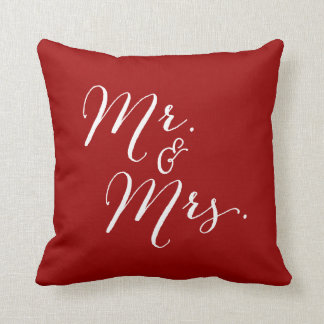 Mr & Mrs Double Happiness Chinese Wedding Pillow