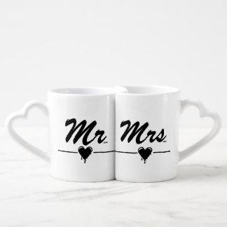Mr & Mrs Dripping Heart xoxo Lovers Mug