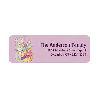 Mr. & Mrs. Easter Bunny Return Address Labels