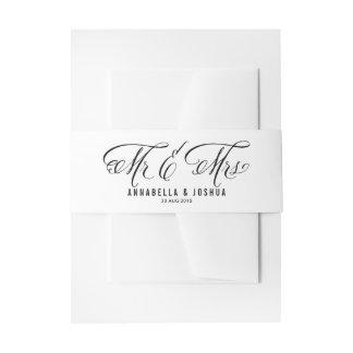 Mr. & Mrs. Elegant Script | Wedding Belly Band