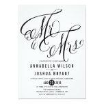 Mr. & Mrs. Elegant Script | Wedding Invitation