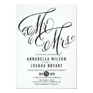 Mr. & Mrs. Elegant Script | Wedding Invitation