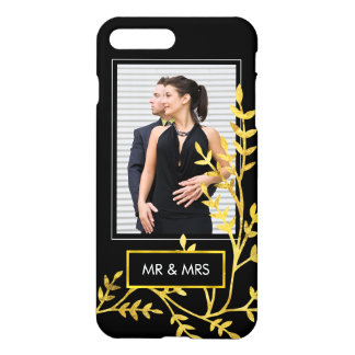 Mr. & Mrs Elegant Wedding Photo for Newlyweds iPhone 7 Plus Case