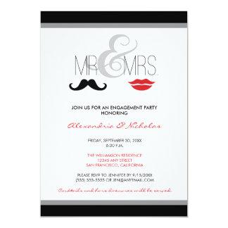 Mr. & Mrs. Engagement Party Invitation (black)