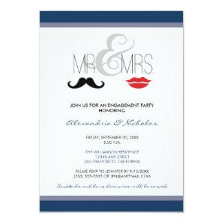 Mr. & Mrs. Engagement Party Invitation (navy)