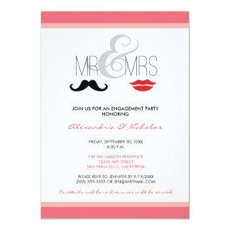Mr. & Mrs. Engagement Party Invitation (rose)