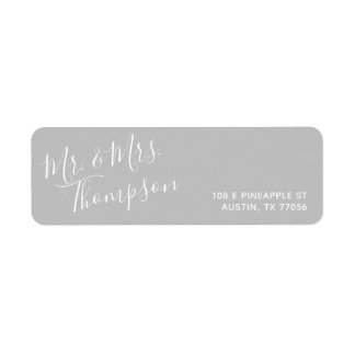 Mr. & Mrs. | Everyday Modern | Grey Return Address Label