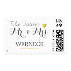 Mr & Mrs family name / surname wedding Postage