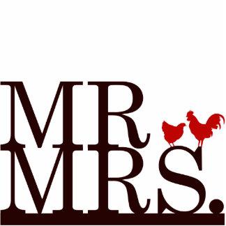 Mr & Mrs Farmer Cake Topper Standing Photo Sculpture