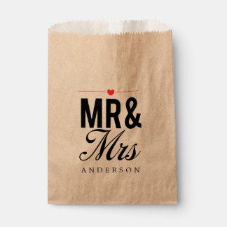 Mr. & Mrs. Favor Bags   WEDDINGS