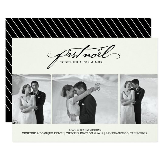Mr & Mrs First Christmas Noel Holiday Photo Card