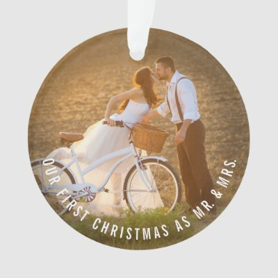 Our First Christmas Together Engaged Reindeer Ornament | Zazzle.com