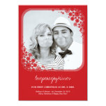 Mr & Mrs First Christmas Wedding Snowflakes Card Personalized Invites