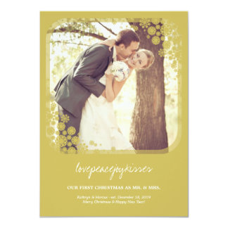 Mr & Mrs First Christmas Wedding Snowflakes Card Personalized Announcements