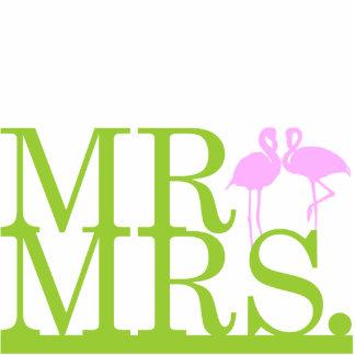 Mr & Mrs Flamingo 2 Cake Topper Photo Sculptures
