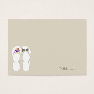 Mr & Mrs Flip Flops Beach Wedding Place Card