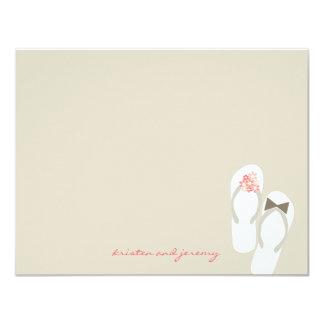 Mr & Mrs Flip Flops Beach Wedding Thank You Card