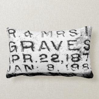 """""""Mr. & Mrs. Graves"""" Cemetery Pillow"""