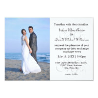 Mr. & Mrs. Gray - Photo Wedding Invitation