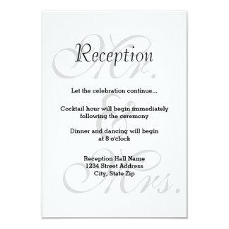 Mr. & Mrs. Gray - Reception Invitation