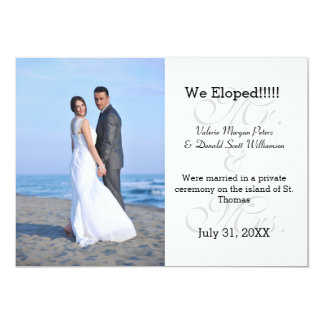 Mr. & Mrs. Gray We Eloped - Photo Announcement