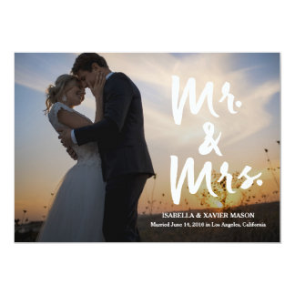 Mr. & Mrs. Handwritten | Wedding Announcement