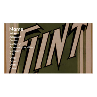 Mr & Mrs Herbert L. Flint, 'Annual Tour' Retro The Business Card