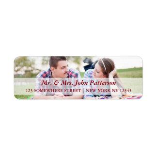 Mr. & Mrs. Holiday Address Label