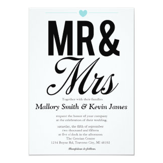 Mr & Mrs Invitations | Weddings