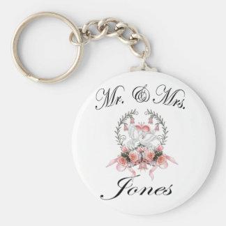 Mr & Mrs. - Jones Basic Round Button Keychain